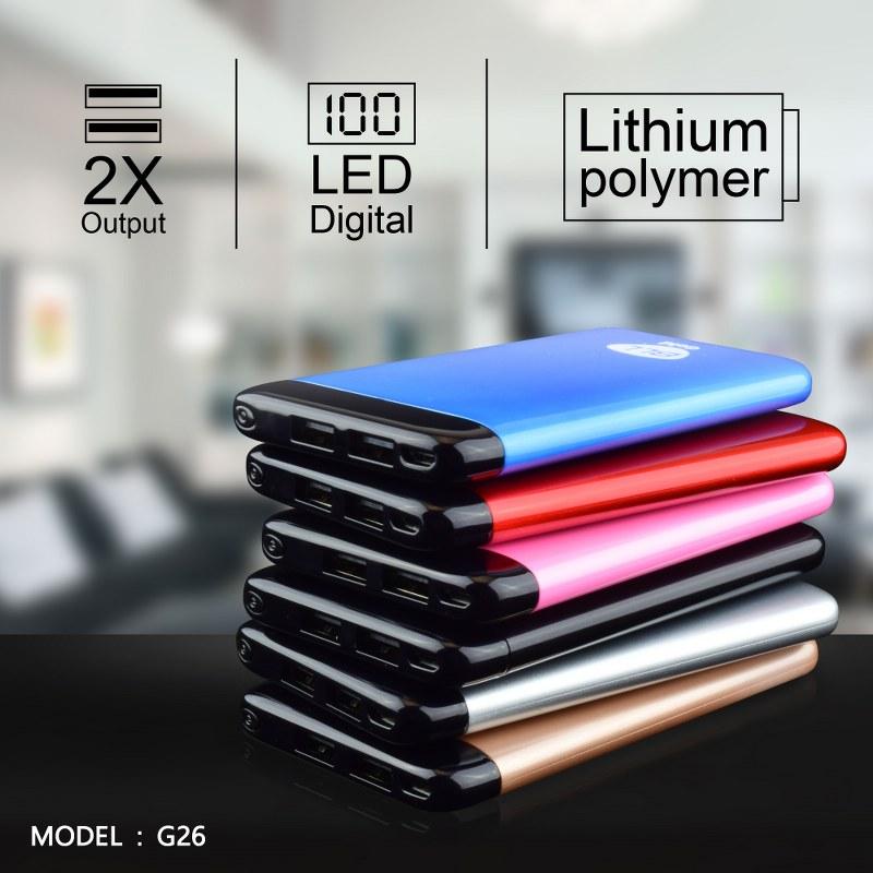 bll powerbank-พาวเวอร์แบงค์ G26-all colors