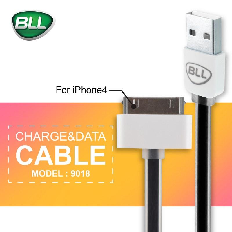 สายชาร์จ bll cable 9018 สำหรับ iPhone4 4+ ราคาถูก ปลีกและส่งจากบริษัทฯ โดยตรง