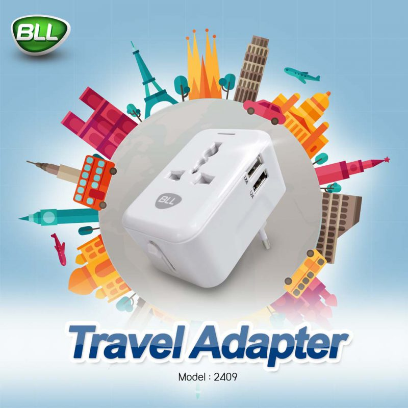 bll charger 2409 หัวชาร์จใช้ได้ทั่วโลก