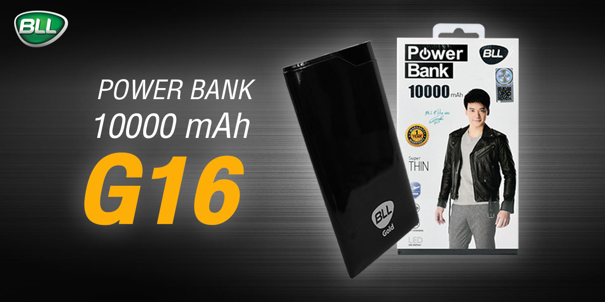 bll powerbank G16 Black 1000mAh