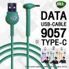 ใหม่ สายชาร์จ 9057_bll cable-type C-สำหรับ Andriod-สีเขียว