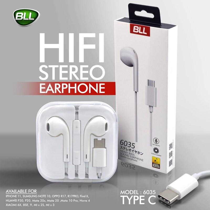 ใหม่ล่าสุด หูฟัง BLL 6035 Type C (Android)เสียง Extra Bass แน่นๆ